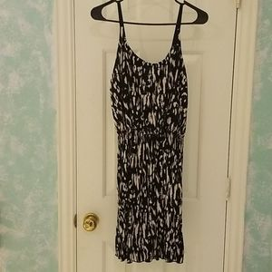 VERA MODA Black & White Dress